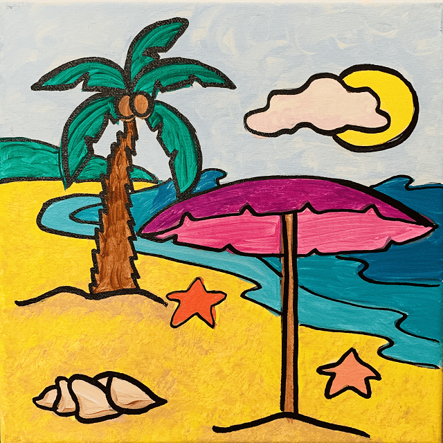 640x640 Life's Beachy Canvas Cupcakes Painting Class Open To All Ages