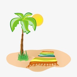 260x260 Sandy Beach, Beach Vector, Coconut Tree Png And Vector For Free