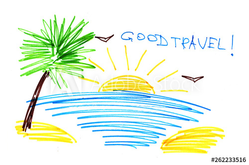 500x333 A Symbolic Abstract Landscape Is A Resort Tropical Sea, Beach