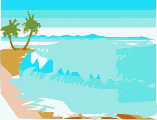 500x385 Vector Drawing Beach Landscape