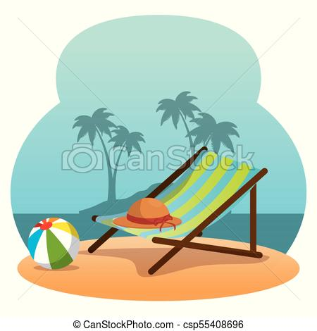 450x470 Wooden Beach Chair On A Beach Landscape Design Wooden Beach Chair