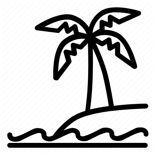 512x512 Beach, Coconut, Landscape, Nature, Sea, View Icon