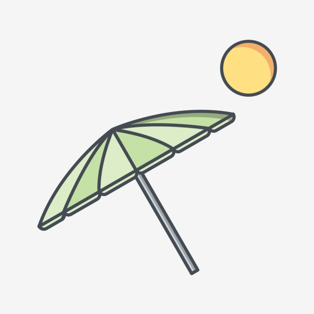 640x640 beach umbrella vector icon, beach icon, umbrella icon, vacation