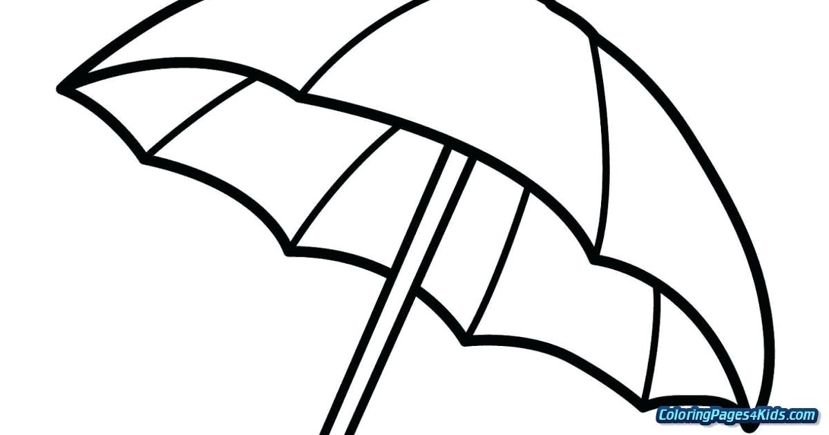 1200x630 umbrella coloring pages beach umbrella coloring