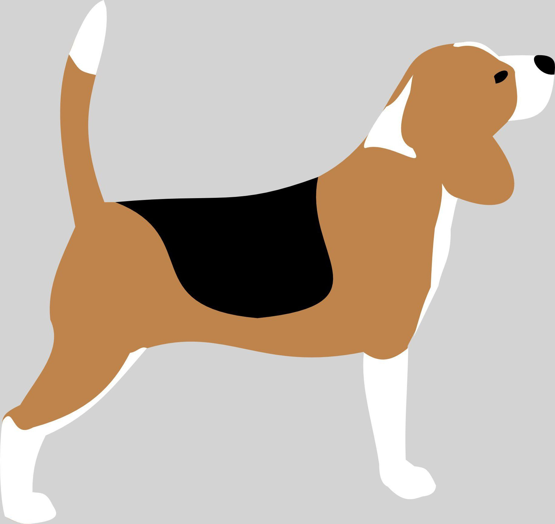 1830x1727 beagle silhouette vector drawing dogart beagle, painting