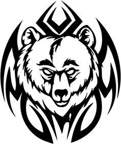 Bear tribal. Collection of paw clipart