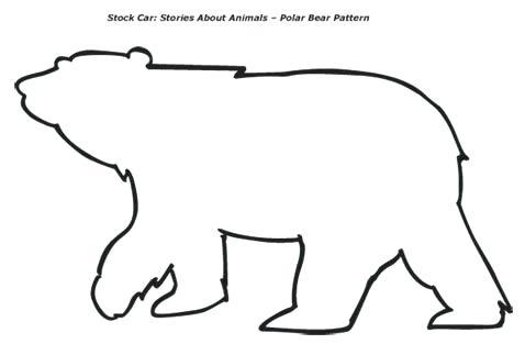 478x313 polar bear outline drawing bear template polar bear pattern one