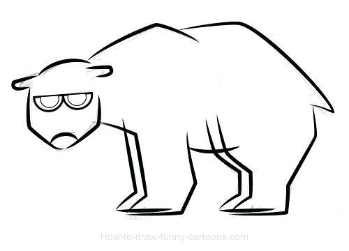 500x360 polar bear drawings polar bear drawings polar bear drawing face