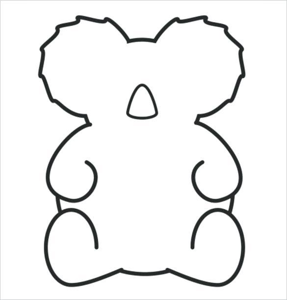 585x611 koala outline baby koala bear black bear outline koala outline