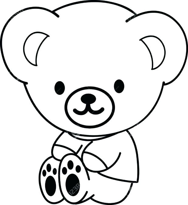 618x674 bear outline coloring captivating outline a teddy bear outline