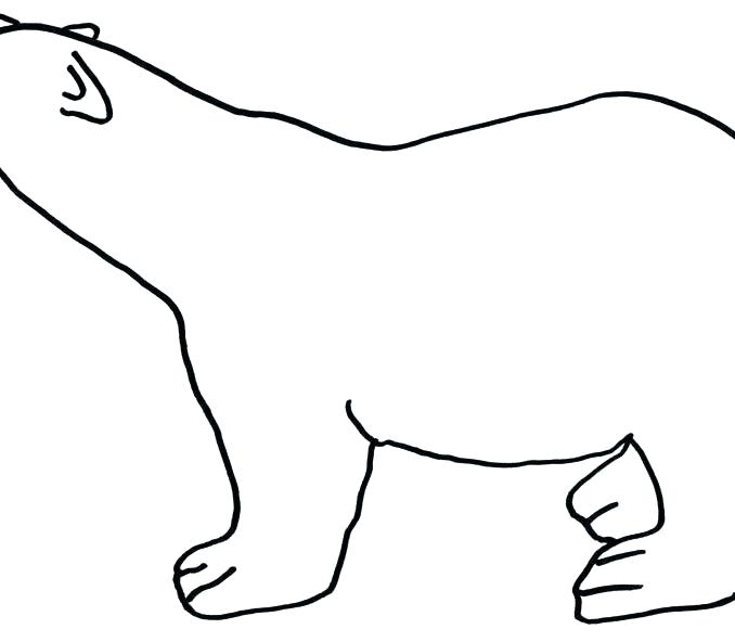 678x592 bear outline simple bear drawing bear outline soft toy teddy bear