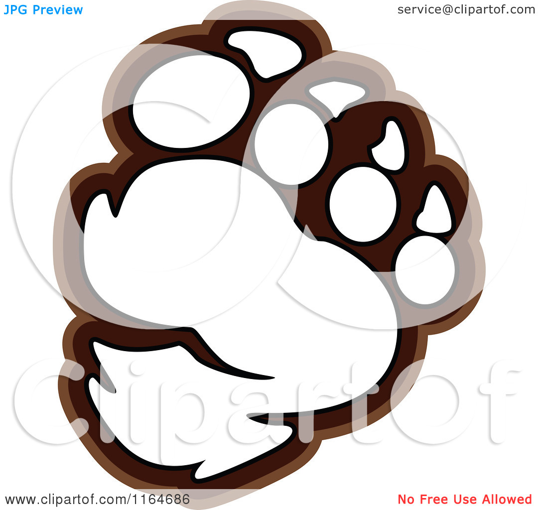 1080x1024 Cartoon Of A Bear Paw Outlined
