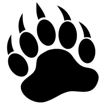350x350 Grizzly Bear Paw Print Right Forearm Tattoospiercings Bear