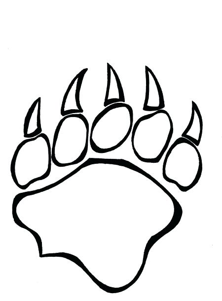 450x612 panda bear paw print standing black bear drawing panda free a bear