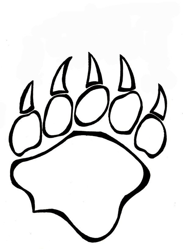 600x816 Bear Paw Coloring
