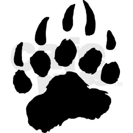 460x460 bear paw print bear gifts bear auto black bear paw aluminum