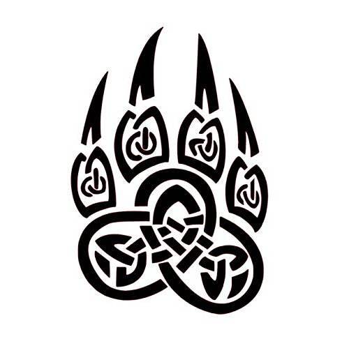 500x486 Celtic Bear Paw Vinyl Decal, Celtic Wall Art, Celtic