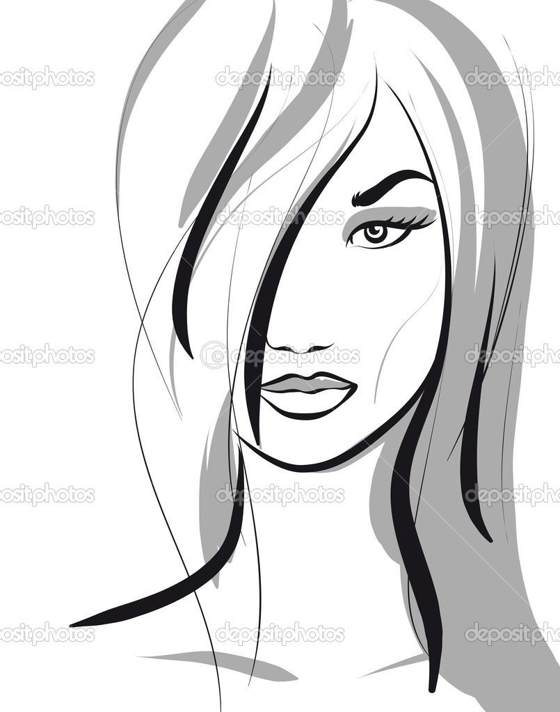 Beautiful Girl Face Drawing