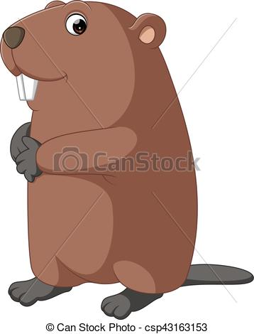 358x470 cartoon beaver illustration of cute beaver cartoon clipart vector