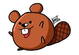 300x210 beaver cartoon drawing how to draw a cartoon beaver