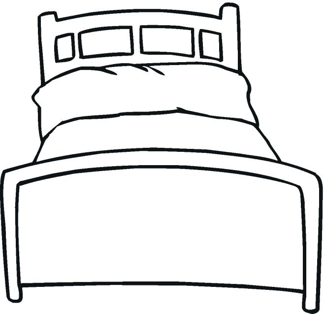 660x637 how to draw a bed bed drawing for kids how to draw a bed step