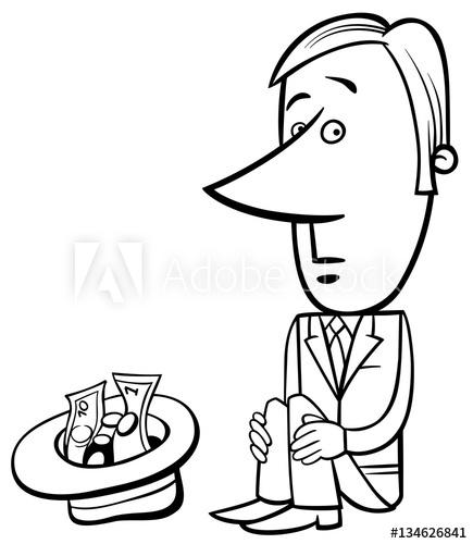 435x500 businessman beggar illustration