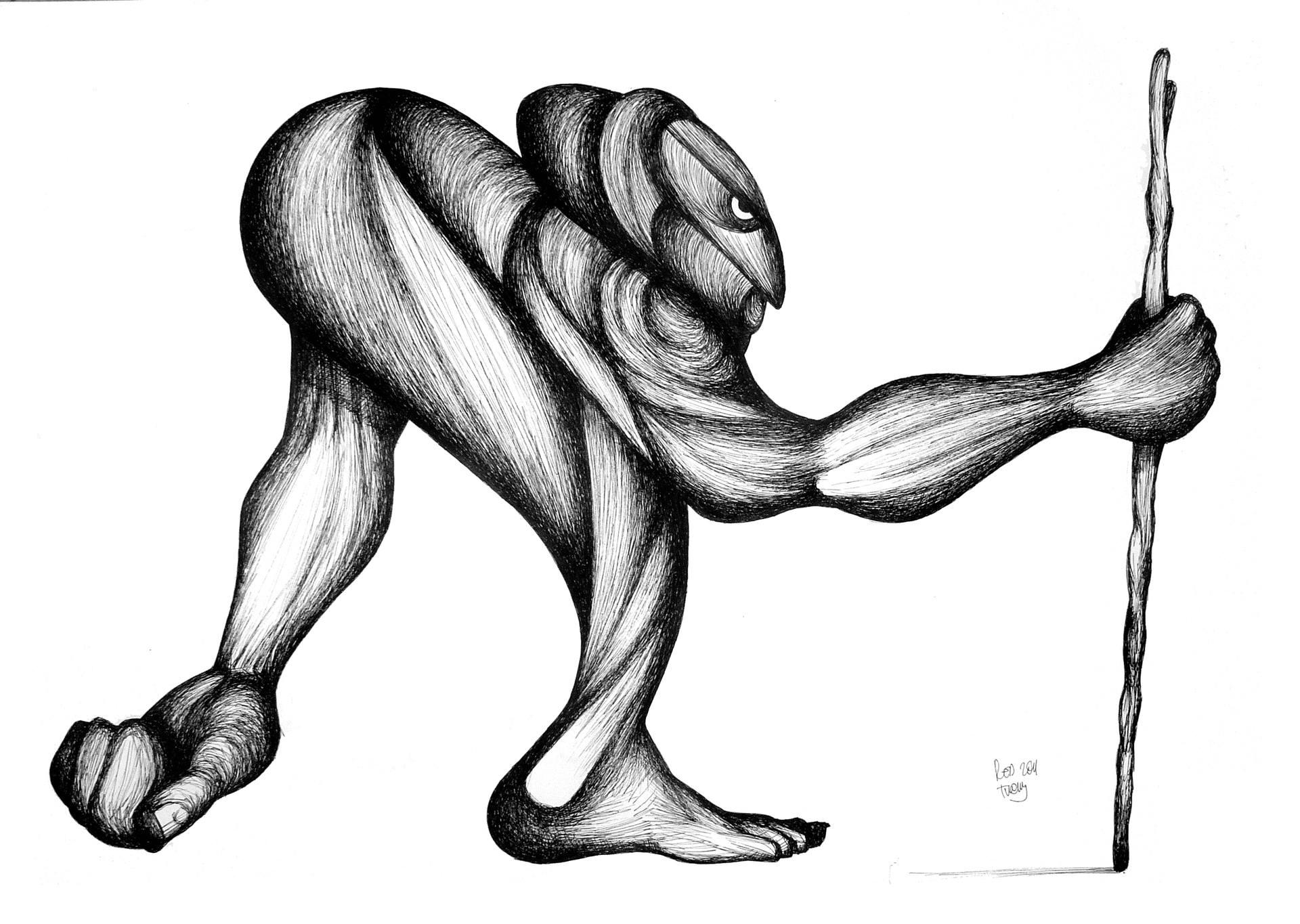 1920x1365 a cripple beggar drawing