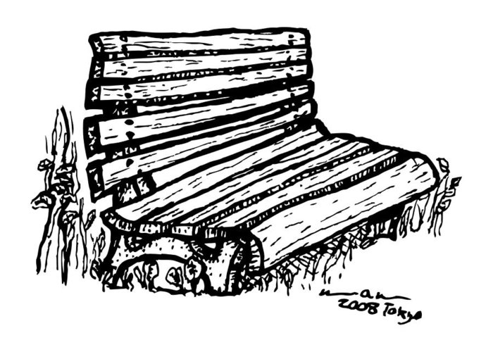 700x500 Bench Greeting Card For Sale