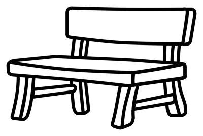 400x269 Download Free Png Bench Drawing White Black Park
