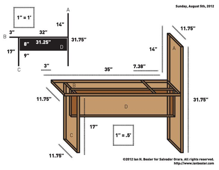 736x569 Drawing Bench Plans
