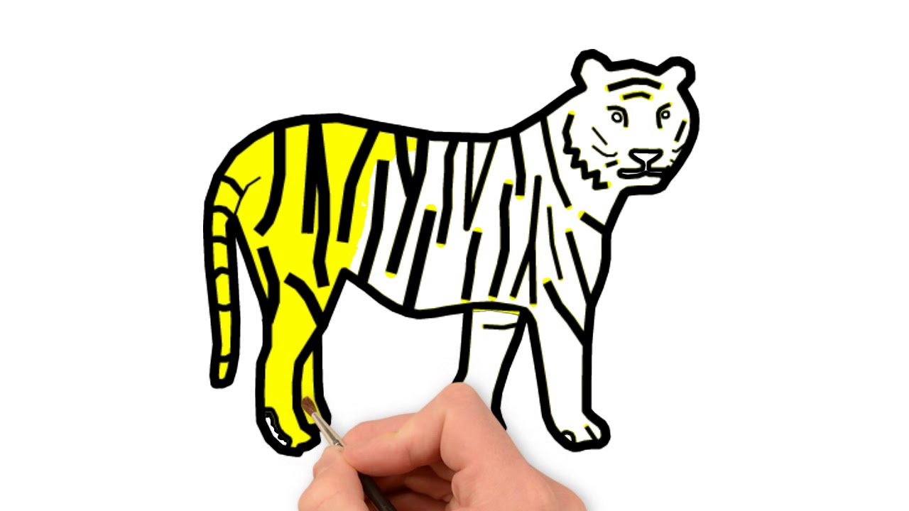 1280x720 how to draw and coloring royal bengal tiger for kids royal bengal