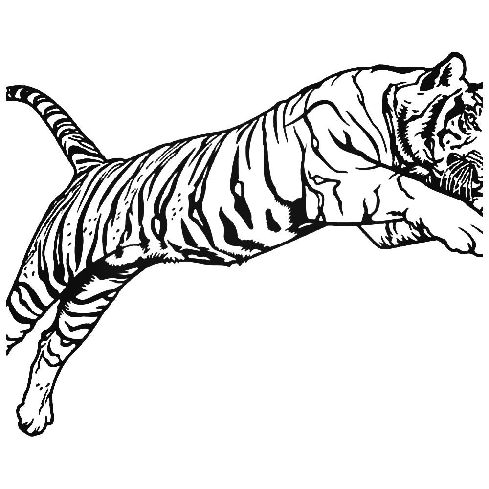 1000x1000 bengal tiger jump decal sticker tiger tattoos bengal tiger