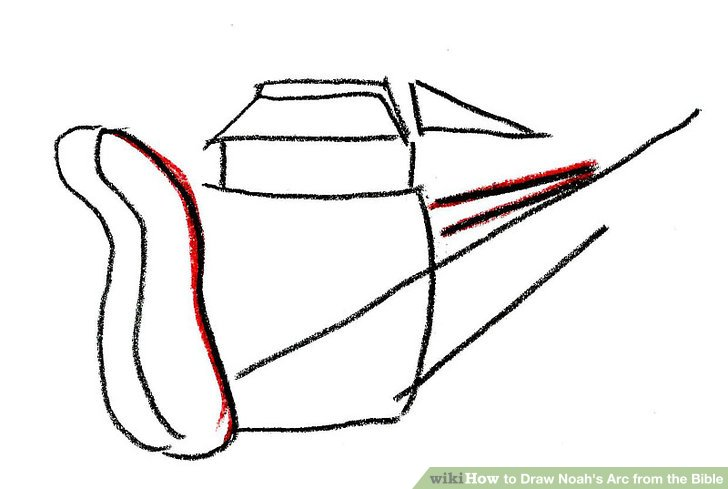 728x489 How To Draw Noah's Arc From The Bible Steps
