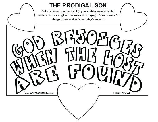 550x425 Bible Story Coloring Pages Prodigal Son