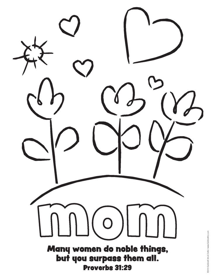 736x952 Simple Mother's Day Printable With Prov Bible Verse Holiday