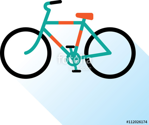 500x419 Color Bicycle Icon Bike Vector Illustration Road Bicycle Line