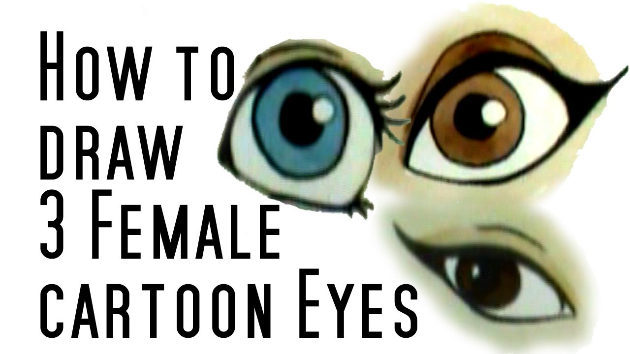 1280x720 How To Draw Cartoon Female Eyes