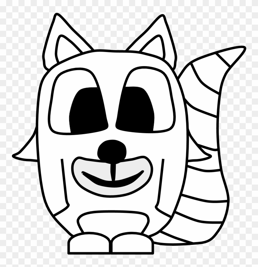 840x868 Raccoon, Big Eyes, Black And White, Cartoon Animal