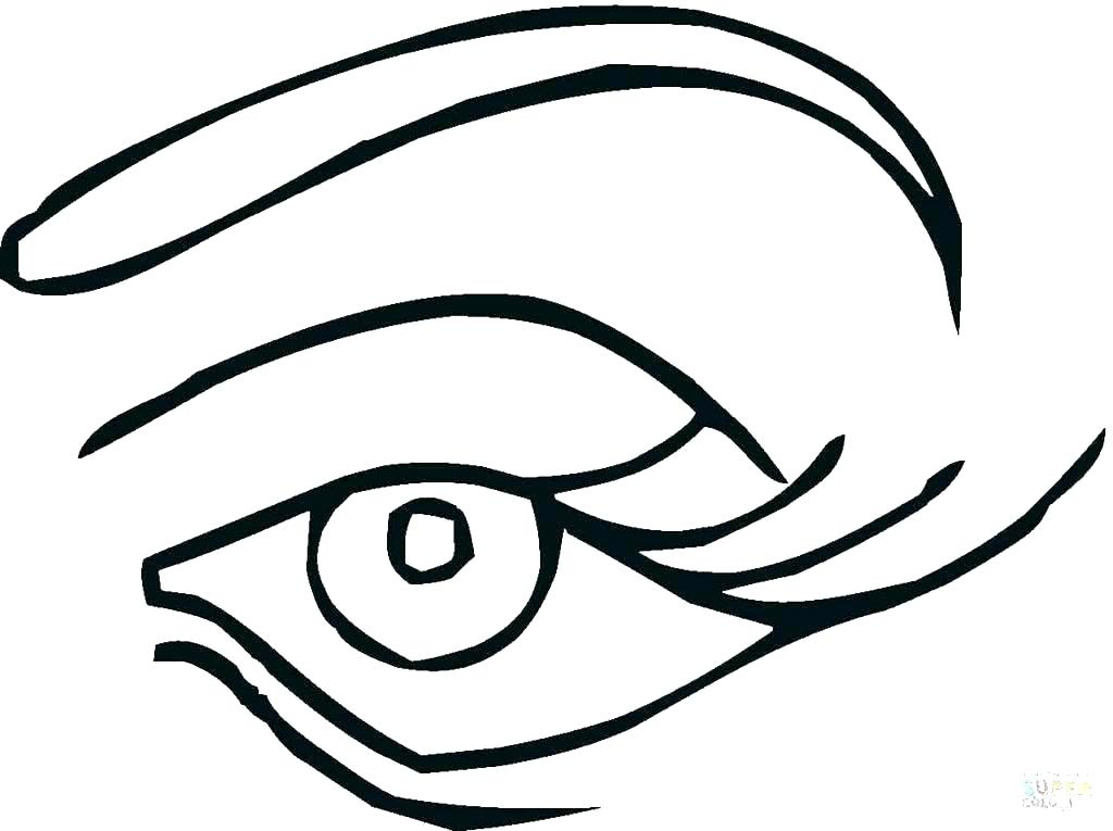1024x765 Eyes Coloring Pages