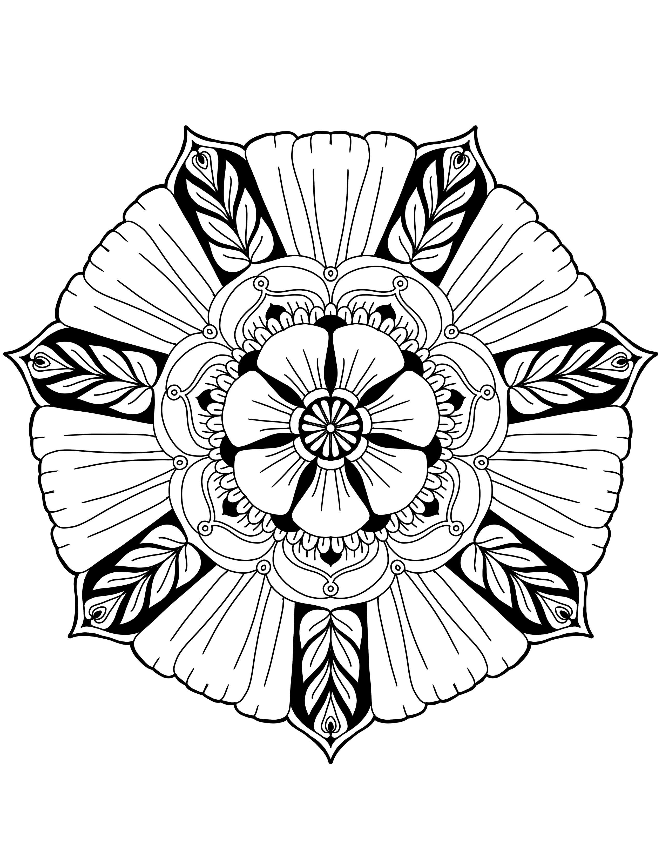 Big Flower Drawing