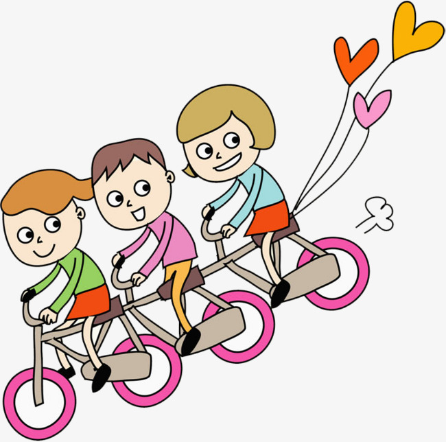 650x644 Bike Kids, Cartoon Hand Drawing, Decorative Pattern, Cartoon