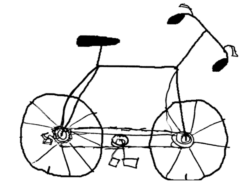 845x635 Bicycle Drawing Cartoon For Free Download