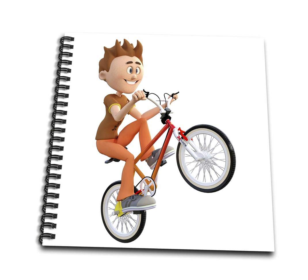1070x973 Cartoon Boy Riding Bike Doing Wheelie Drawing