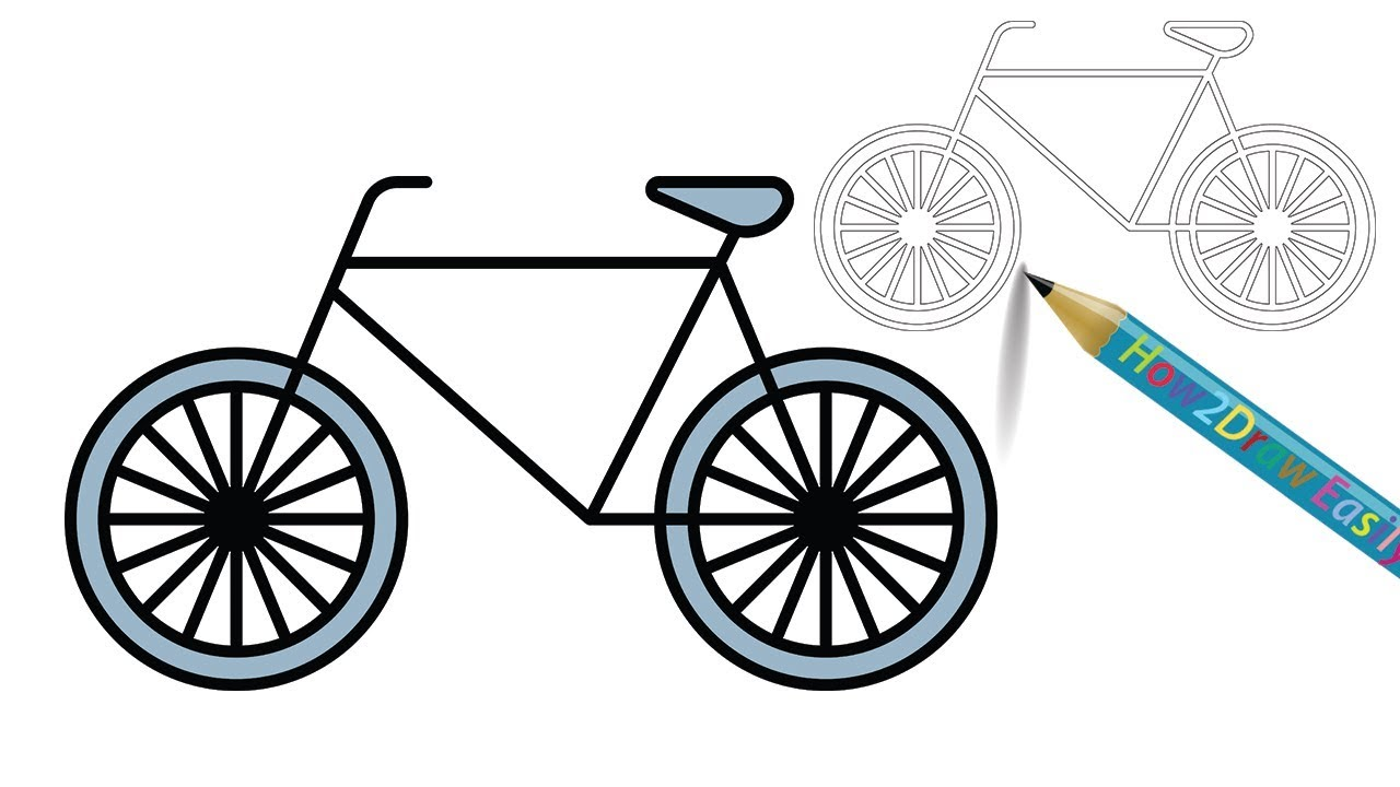 1280x720 Awesome Bicycle Drawing For Beginners Cartoon Animation