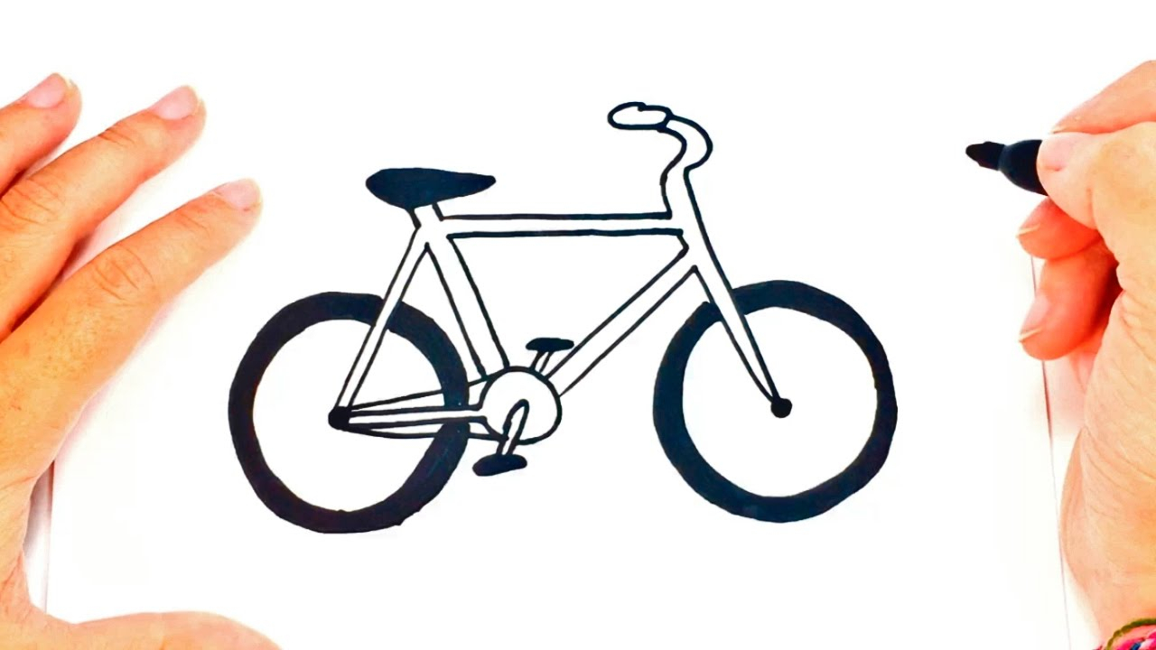1280x720 How To Draw A Bike Easy