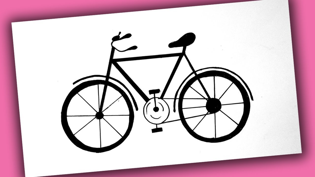 1280x720 How To Draw A Bicycle For Kids Bicycle Drawing Easy Step