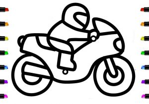 300x210 Motorcycle Drawing For Kids And Bike Drawing Easy Easy Motorcycle