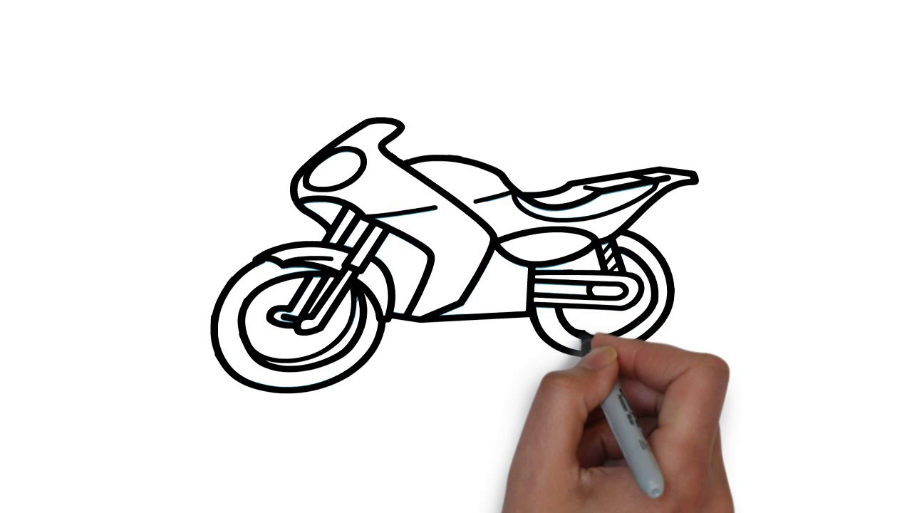 1280x720 An Easy And Beautiful Bike Drawing For Kids Hd Video, Arian Art School
