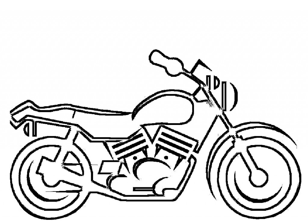 1024x734 Motorcycle Drawing Easy For Free Download