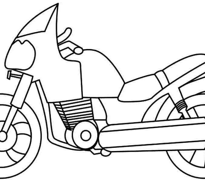 678x600 Motorcycle Drawing For Kids Motorbike Colouring Pages To Print